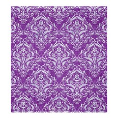 Damask1 White Marble & Purple Denim Shower Curtain 66  X 72  (large)  by trendistuff