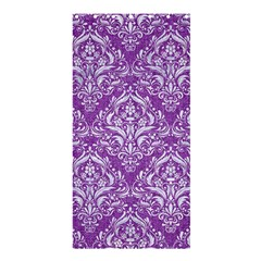 Damask1 White Marble & Purple Denim Shower Curtain 36  X 72  (stall)  by trendistuff