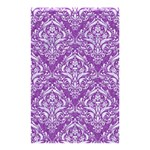 DAMASK1 WHITE MARBLE & PURPLE DENIM Shower Curtain 48  x 72  (Small)  42.18 x64.8 Curtain