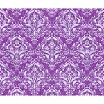DAMASK1 WHITE MARBLE & PURPLE DENIM Deluxe Canvas 14  x 11  14  x 11  x 1.5  Stretched Canvas