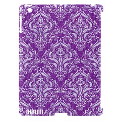 Damask1 White Marble & Purple Denim Apple Ipad 3/4 Hardshell Case (compatible With Smart Cover) by trendistuff
