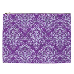 Damask1 White Marble & Purple Denim Cosmetic Bag (xxl)  by trendistuff