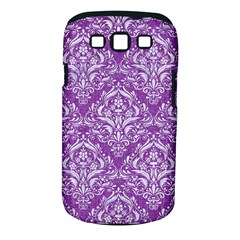Damask1 White Marble & Purple Denim Samsung Galaxy S Iii Classic Hardshell Case (pc+silicone) by trendistuff