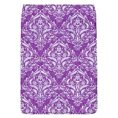 Damask1 White Marble & Purple Denim Flap Covers (l)  by trendistuff
