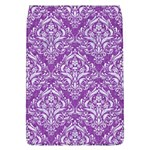 DAMASK1 WHITE MARBLE & PURPLE DENIM Flap Covers (L)  Front