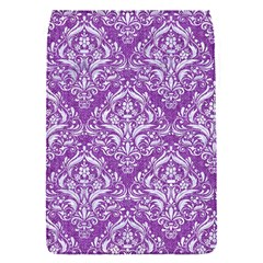 Damask1 White Marble & Purple Denim Flap Covers (s)  by trendistuff