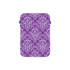 Damask1 White Marble & Purple Denim Apple Ipad Mini Protective Soft Cases