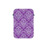 DAMASK1 WHITE MARBLE & PURPLE DENIM Apple iPad Mini Protective Soft Cases Front