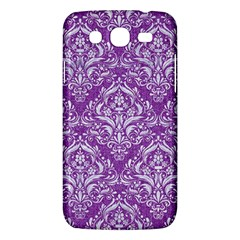 Damask1 White Marble & Purple Denim Samsung Galaxy Mega 5 8 I9152 Hardshell Case  by trendistuff