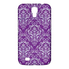 Damask1 White Marble & Purple Denim Samsung Galaxy Mega 6 3  I9200 Hardshell Case by trendistuff