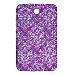 Damask1 White Marble & Purple Denim Samsung Galaxy Tab 3 (7 ) P3200 Hardshell Case  by trendistuff