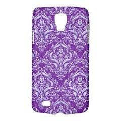 Damask1 White Marble & Purple Denim Galaxy S4 Active by trendistuff