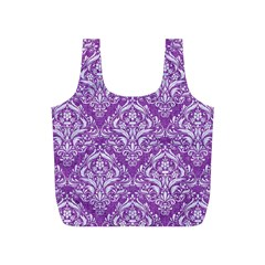 Damask1 White Marble & Purple Denim Full Print Recycle Bags (s)  by trendistuff