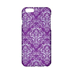 Damask1 White Marble & Purple Denim Apple Iphone 6/6s Hardshell Case