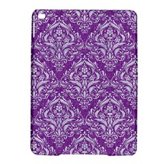 Damask1 White Marble & Purple Denim Ipad Air 2 Hardshell Cases by trendistuff