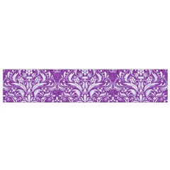Damask1 White Marble & Purple Denim Small Flano Scarf by trendistuff