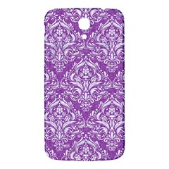 Damask1 White Marble & Purple Denim Samsung Galaxy Mega I9200 Hardshell Back Case by trendistuff