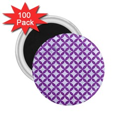 Circles3 White Marble & Purple Denim (r) 2 25  Magnets (100 Pack)  by trendistuff