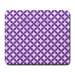 CIRCLES3 WHITE MARBLE & PURPLE DENIM (R) Large Mousepads Front