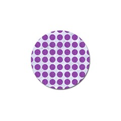 Circles1 White Marble & Purple Denim (r) Golf Ball Marker by trendistuff