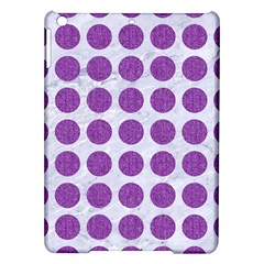 Circles1 White Marble & Purple Denim (r) Ipad Air Hardshell Cases by trendistuff