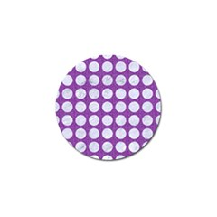 Circles1 White Marble & Purple Denim Golf Ball Marker by trendistuff