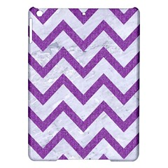 Chevron9 White Marble & Purple Denim (r) Ipad Air Hardshell Cases by trendistuff