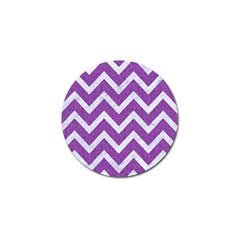 Chevron9 White Marble & Purple Denimchevron9 White Marble & Purple Denim Golf Ball Marker by trendistuff