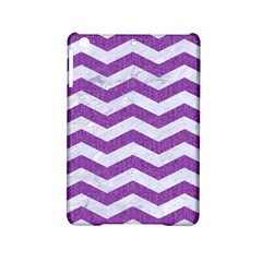 Chevron3 White Marble & Purple Denim Ipad Mini 2 Hardshell Cases by trendistuff