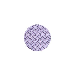 Brick2 White Marble & Purple Denim (r) 1  Mini Magnets by trendistuff