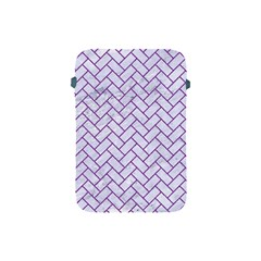 Brick2 White Marble & Purple Denim (r) Apple Ipad Mini Protective Soft Cases by trendistuff