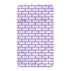 Brick1 White Marble & Purple Denim (r) Memory Card Reader by trendistuff