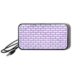 Brick1 White Marble & Purple Denim (r) Portable Speaker by trendistuff