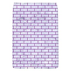 Brick1 White Marble & Purple Denim (r) Flap Covers (s)  by trendistuff