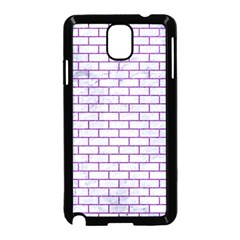 Brick1 White Marble & Purple Denim (r) Samsung Galaxy Note 3 Neo Hardshell Case (black) by trendistuff