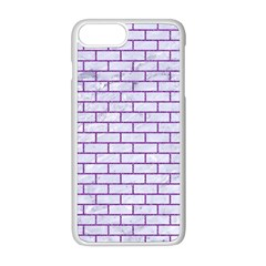 Brick1 White Marble & Purple Denim (r) Apple Iphone 8 Plus Seamless Case (white) by trendistuff