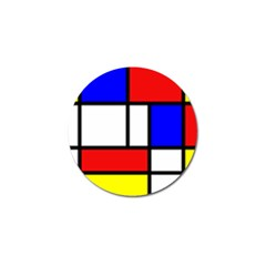 Piet Mondrian Mondriaan Style Golf Ball Marker (10 Pack) by yoursparklingshop