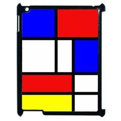 Piet Mondrian Mondriaan Style Apple Ipad 2 Case (black) by yoursparklingshop
