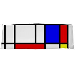 Piet Mondrian Mondriaan Style Body Pillow Case Dakimakura (two Sides) by yoursparklingshop