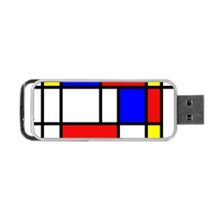 Piet Mondrian Mondriaan Style Portable Usb Flash (one Side) by yoursparklingshop