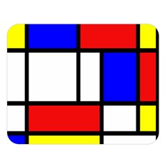 Piet Mondrian Mondriaan Style Double Sided Flano Blanket (large)  by yoursparklingshop