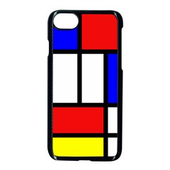 Piet Mondrian Mondriaan Style Apple Iphone 7 Seamless Case (black) by yoursparklingshop