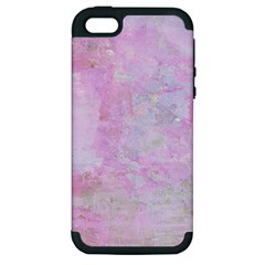 Soft Pink Watercolor Art Apple Iphone 5 Hardshell Case (pc+silicone) by yoursparklingshop