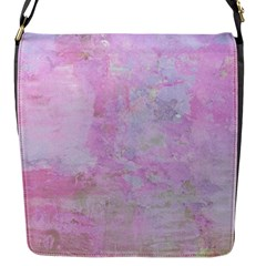 Soft Pink Watercolor Art Flap Messenger Bag (s) by yoursparklingshop