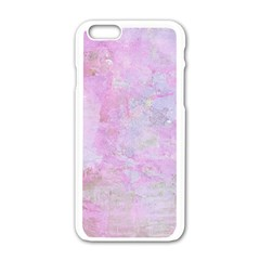 Soft Pink Watercolor Art Apple Iphone 6/6s White Enamel Case by yoursparklingshop