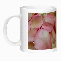 Romantic Pink Rose Petals Floral  Night Luminous Mugs by yoursparklingshop