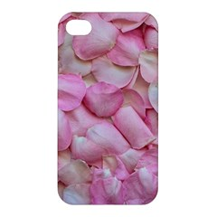 Romantic Pink Rose Petals Floral  Apple Iphone 4/4s Premium Hardshell Case by yoursparklingshop
