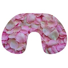 Romantic Pink Rose Petals Floral  Travel Neck Pillows by yoursparklingshop