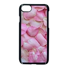 Romantic Pink Rose Petals Floral  Apple Iphone 8 Seamless Case (black) by yoursparklingshop