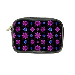 Stylized Dark Floral Pattern Coin Purse by dflcprints